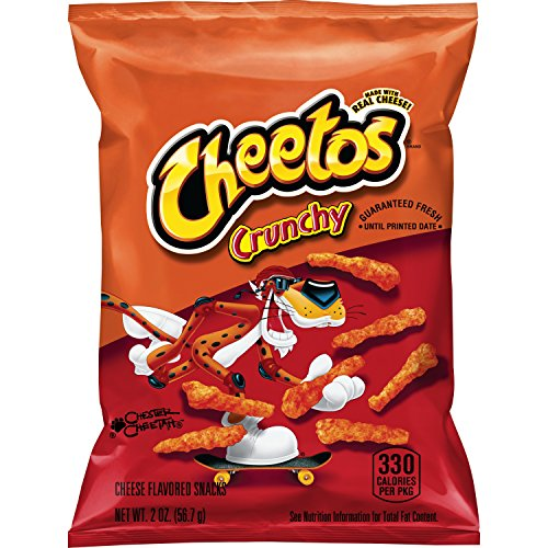 Cheetos Crunchy Cheese Flavored Snacks, 2 Ounce (Pack of 64) (Calories In A Bag Of Hot Cheetos)