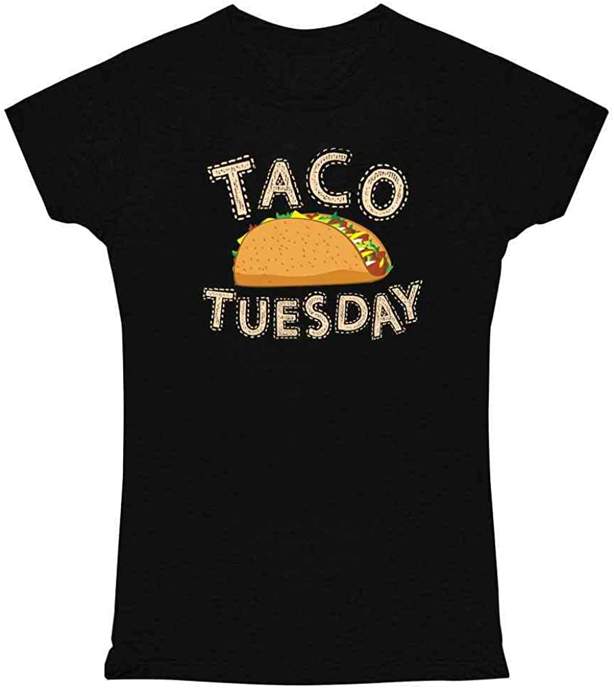 Taco Tuesday Funny Meme Mexican Food Pun Bell Graphic Tee T Shirt for Women