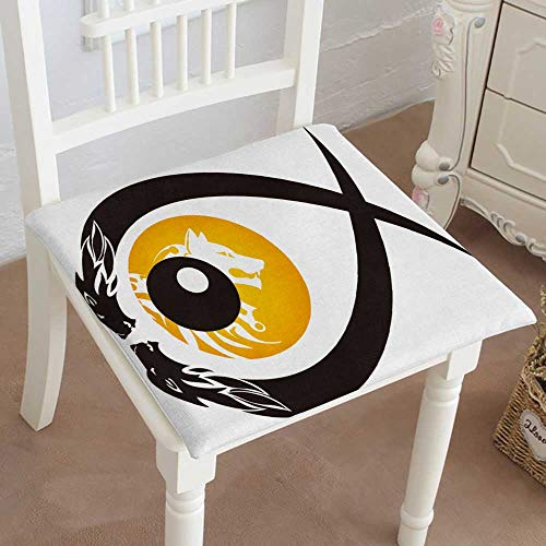Mikihome Premium Chair Cushion Tribal Wolf Eye Symbol in The Form of Fish Comfort Memory PadCushions - Assorted Colors 32