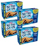 Kellogg's Nutri-Grain, Soft Baked Breakfast Bars, Blueberry, Made with Whole Grain, Value Pack, 20.8 oz (16 Count) (Pack of 4)