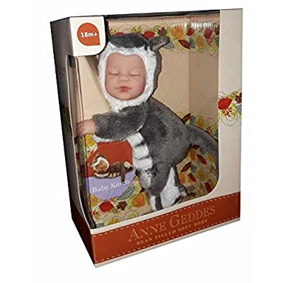 Anne Geddes 9 inch Baby Kitten Doll - Bean Filled Soft Body Collection