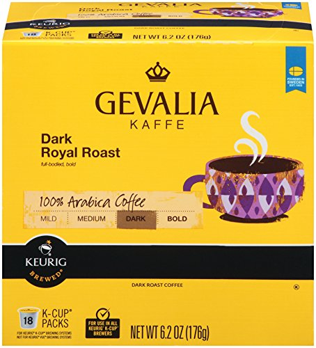 Gevalia Dark Royal Roast K-CUP Pods - 18 count