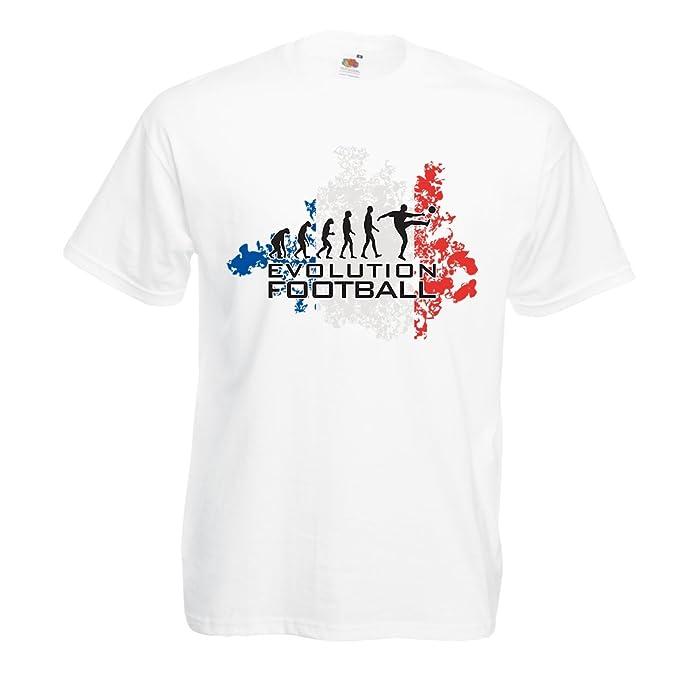 lepni.me Camisetas Hombre Fútbol de Evolución - Francia, Campeonato de Rusia 2018, Copa del Mundo - Camisa del admirador de Equipo del Fútbol Francesa: ...