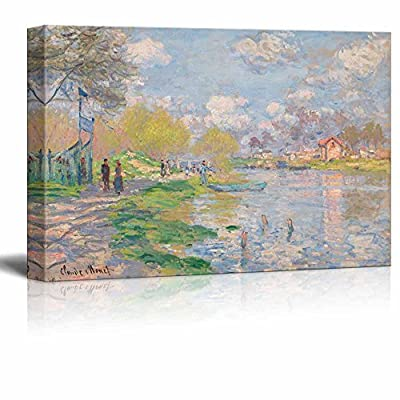 Spring by The Seine by Claude Monet Print...24