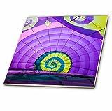 3dRose Danita Delimont - Hot Air Balloons - USA, MA, Hudson, Ballon Festival, hot air balloon inflating interior - 6 Inch Ceramic Tile (ct_259457_2)