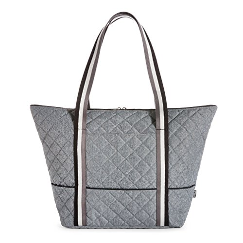 cinda b Heather Grey City Super Tote the ultimate womens everywhere, carry on, and luggage bag (Ultimate Tote)