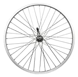 "Flying Horse Heavy Duty 12 Gauge Coaster Brake Rear 26"" x 1.5"" Bicycle Rim Set – Gas Bike HD Rim Upgrade (Silver)"