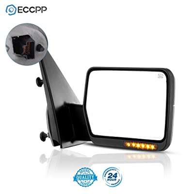 ECCPP Towing Mirror for 2004-2006 Ford F-150 Truck Right Passenger Side Power Heated LED Turn Signal Mirror: Automotive