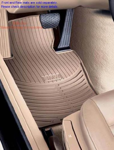 BMW Genuine Beige Rubber Mat Front for 525i 528i 530i 540i 540iP M5