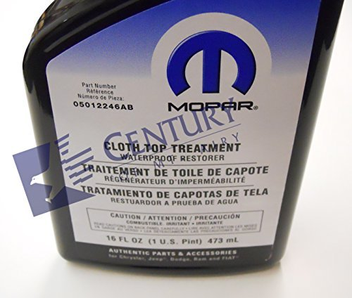 Genuine Chrysler Accessories 5012246AB Convertible Cloth Top Treatment - 16 oz. Trigger Spray Bottle, Model: 5012246AB, Outdoor&Repair Store