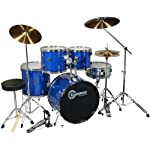 Drum-Set-Adult-Size-Blue-Full-Size-with-Cymbals-Stands-Sticks-Stool-and-Extra-Boom-Cymbal