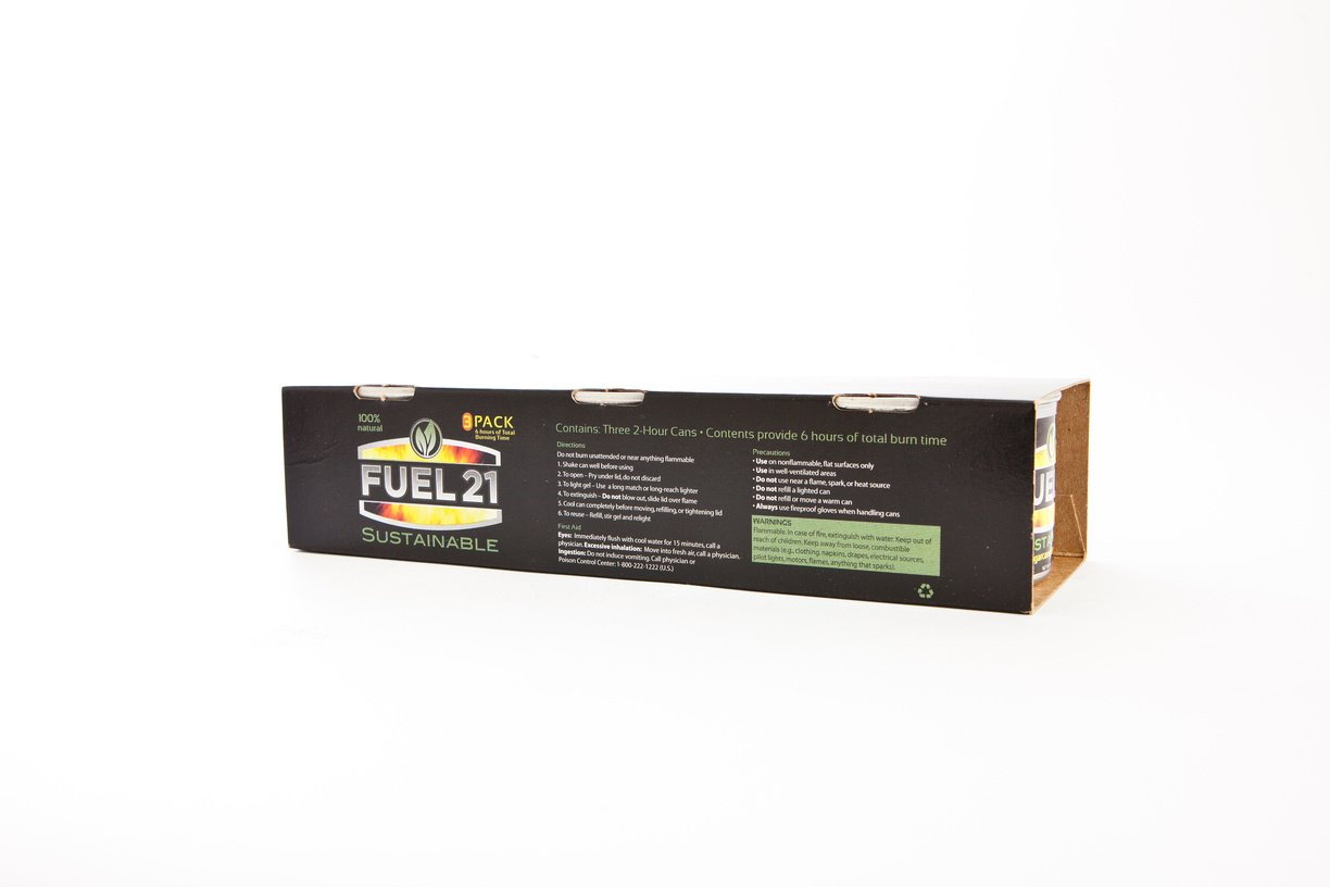 FUEL 21 S'mores/Chafing fuel, Camping, 3 Pack