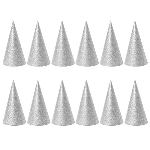 TOYMYTOY Party Hats Cone Hats Birthday Party Hats for Kids and Adults Party Favors Decorations - 12 Pieces -