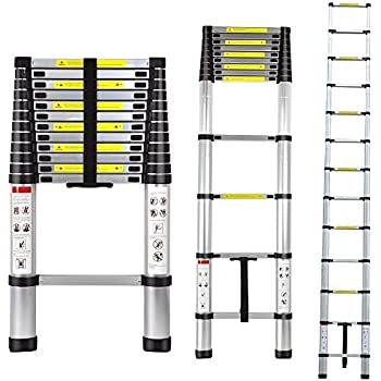 Extendable Ladder Heavy Duty Aluminum Telescopic