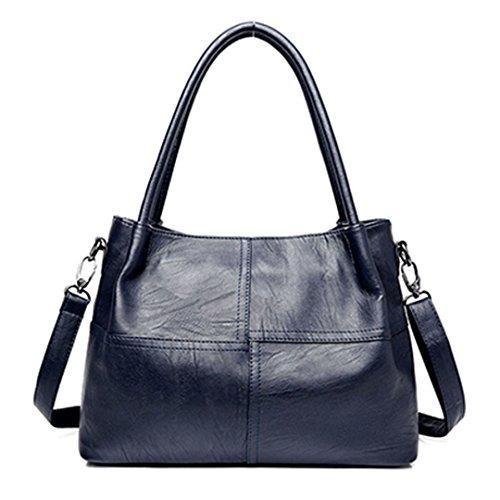Large handle Bag Leather Woman Brozen Main Top 37cm Sac 26cm Blue Female Designer Handbags Sewn 22cm Women Handbags Bags Bags I0PYqY