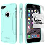 iPhone 8 Case and 7 Case, SaharaCase Protective Kit Bundle with [ZeroDamage Tempered Glass Screen Protector] Rugged Protection Anti-Slip Grip [Shockproof Bumper] Slim Fit - Aqua Teal