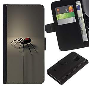 All Phone Most Case / Oferta Especial Cáscara Funda de cuero Monedero Cubierta de proteccion Caso / Wallet Case for Samsung Galaxy S5 Mini, SM-G800 // pauk valentinka gotika serdce