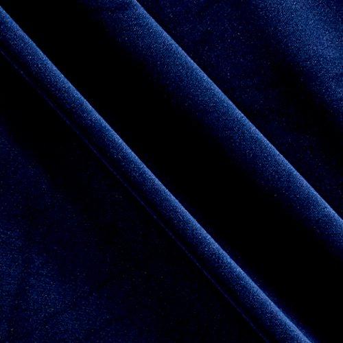 P Kaufmann 0558515 Imperial Velvet Drapery Midnight Fabric by The Yard