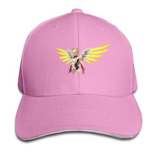 Overwatch Game Mercy Character Poster Men Sandwich Snapback