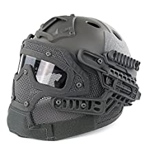 H World Shopping Tactical Protective Helmet Full Face Mask Googles G4 System Airsoft Paintball FG