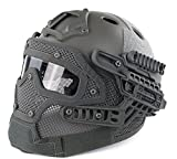H World Shopping Tactical Protective Helmet Full Face Mask Googles G4 System Airsoft Paintball Solid Color...