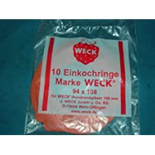 Weck 100mm Rubber Seals / Rings (Set of 10). Fits WECK Models 739 740 741 742 743 744 745 748.