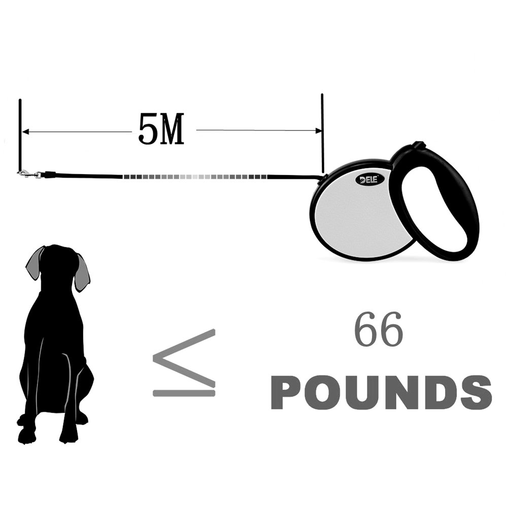 wayer 3 m/5 M retráctil correa del perro para la formación y ...