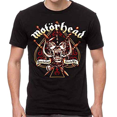 GLOBAL Motorhead Men's Sword Spade Clean T-Shirt Black 2XL ()