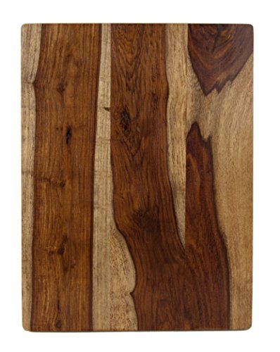 "Architec Gripperwood Sheesham Cutting Board, Non-Slip Gripper Feet, 10"" by 15"""
