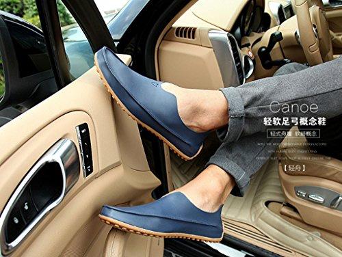Mocassini Casual Jiye Moda Uomo In Pelle Blu