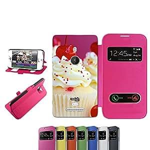 caselabdesigns Flip Carcasa Funda Cereza dulce para Nokia Lumia 925Fucsia–Funda protectora plegable de rosa