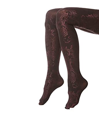 67205afe9a98b Image Unavailable. Image not available for. Color: Hue Paisley Luster Tights  with Control Top ...