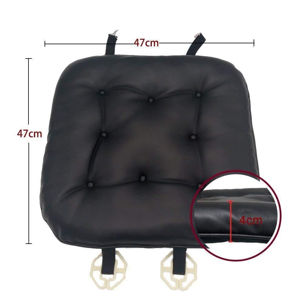 Schwarz Weiches Autositzkissen Sitzbez/üge Leder Big Hippo Auto Sitzkissen Bequeme Sitzauflage Universal Auto Sitzauflagen