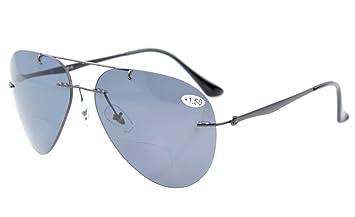 Eyekepper Lunettes de vue lecture Titanium polarisation des lunettes  bifocales style pilote solaire +2.00 9d98f9e1b88c