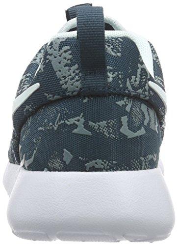 NikeWMNS NIKE ROSHE ONE PRINT - Zapatillas Mujer Azul - Blau (Midnight Teal/Fbrglss-Premium Platinum)