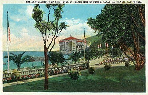 Santa Catalina Island Hotel St Catherine California Vintage Travel Poster Print
