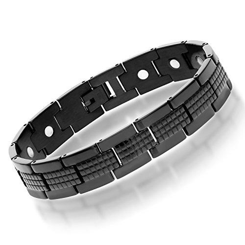 Stainless Pattern Sizable Magnetic Bracelet