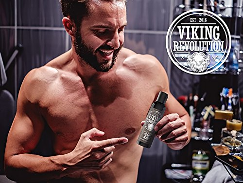 Best Deal Beard Wash & Beard Conditioner Set w/Argan & Jojoba Oils - Softens & Strengthens - Natural Peppermint and Eucalyptus Scent - Beard Shampoo w/Beard Oil (5 oz) by Viking Revolution (Image #6)