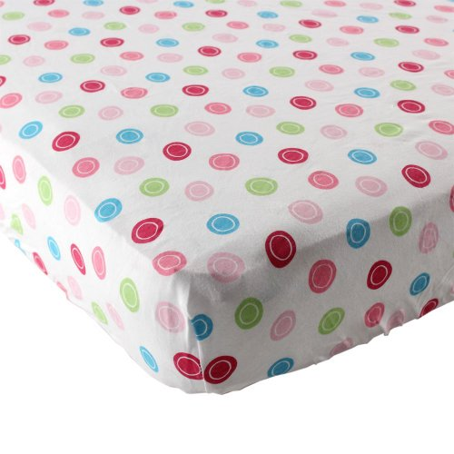 luvable-friends-geometric-print-fitted-knit-crib-sheet-pink