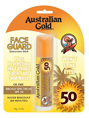 Australian Gold SPF 50+ Face Guard, 0.5 Ounce (Pack of 2)