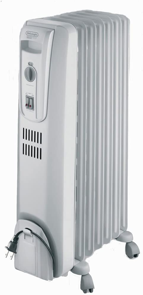 DeLonghi Oil-Filled Radiator Space Heater, Full Room Quiet 1500W Adjustable Thermostat