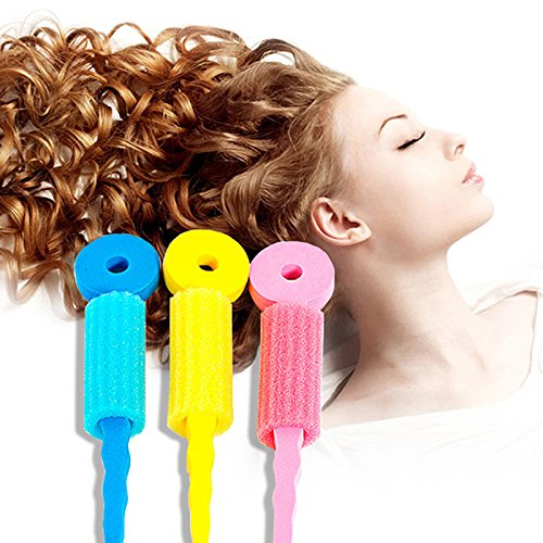 LKE 5 Set (15 pcs) Colorful Soft Foam Sponge Wave Perm Hair Rollers Curler