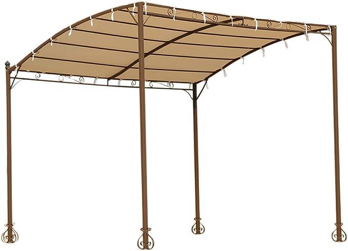 IKAYAA DU105 - Carpa para Sol y Lluvia 3x2.5x2.5m (Estilo Rococó,De Acero Inoxidable) - para Jardín Patio Exterior Terraza Playa: Amazon.es: Hogar