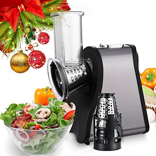 electric vegetable slicer, Salad Slicer, Electric Slicer/Shredder for Fruits, Vegetables, and Cheeses (Style2-Slicer Machine)