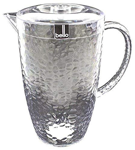 """""""Bello"""" Clear Plastic Pitcher With Lid Great For Outdoor Dining, Picnics & BBQ's Picnics & BBQ's RSW"""