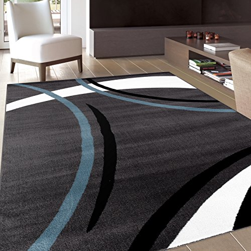 (Rug Decor Contemporary Modern Wavy Circles Area Rug, 7' 10