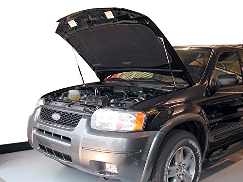 Redline Tuning 21-11002-02 Hood QuickLIFT PLUS System (All Black Components, 4 year warranty) Compatible for Ford Escape & Mazda Tribute 2001-2012 (Escape Hood 2008 Ford)