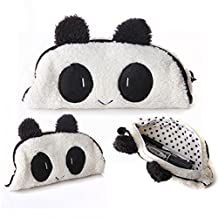 EchoAcc® Cute Lovely Style Soft Panda Plush Pencil Case Pen Pocket Cosmetic Makeup Bag Pouch