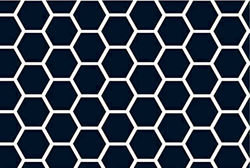SheetWorld Fitted Crib/Toddler Sheet - Navy Honeycomb - Made In USA
