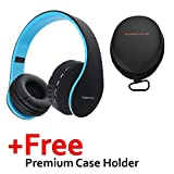 PowerLocus Wireless Bluetooth Over-Ear Stereo Foldable Headphones, Wired Headsets Noise Cancelling with Built-in